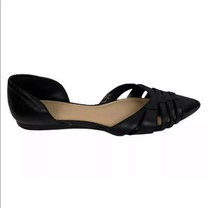 Vince Camuto Hallie d'Orsay Black Flats Womens 8.5